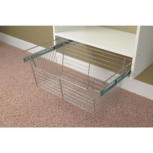 Easy Track 11 In. Chrome Wire Basket