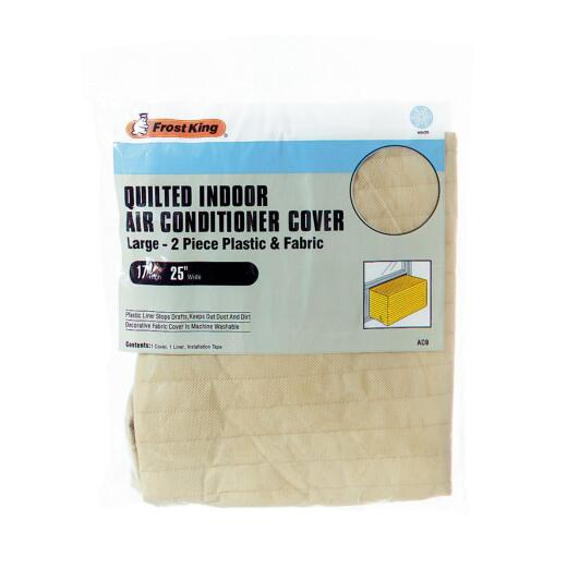 """Frost King 18"""" x 25"""" Rectangle Beige Air Conditioner Cover"""