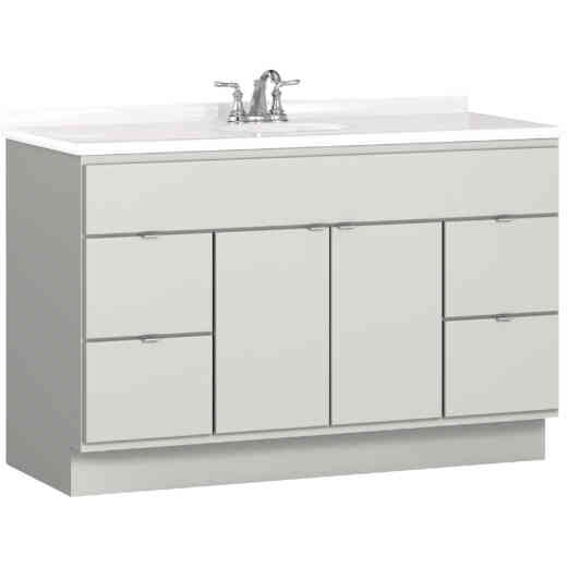 Bertch Riverside 48 In. W x 34-1/2 In. H x 21 In. D Lighthouse Vanity Base, 2 Door/4 Drawer