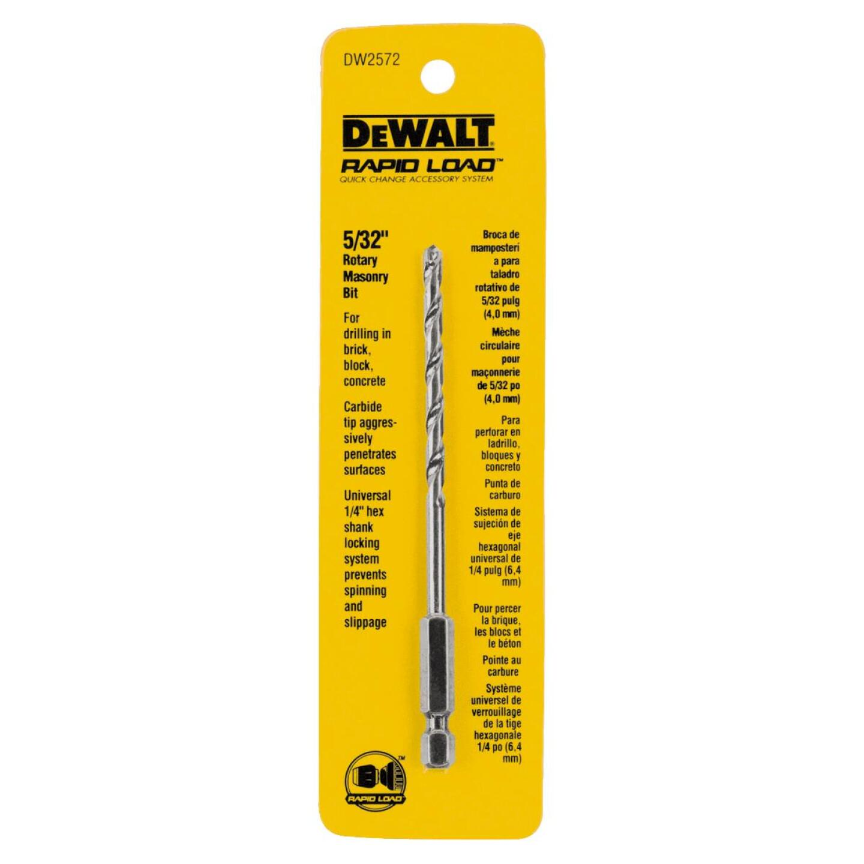 DeWalt 5/32 In. x 5 In. Rotary Masonry Drill Bit Image 1