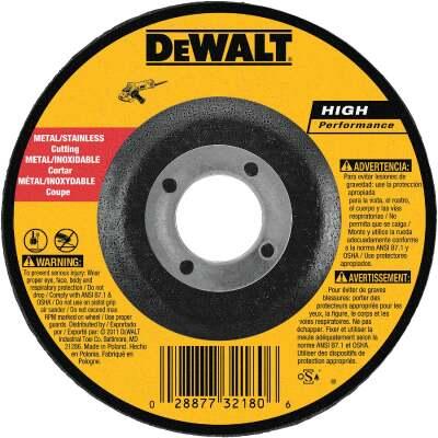 DeWalt HP Type 27 4 In. x 0.045 In. x 5/8 In. Metal/Stainless Cut-Off Wheel