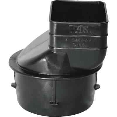 Advanced Drainage Systems 2 In. X 3 In. X 3 In. Polyethylene Corrugated to Downspout Barb X Female Adapter