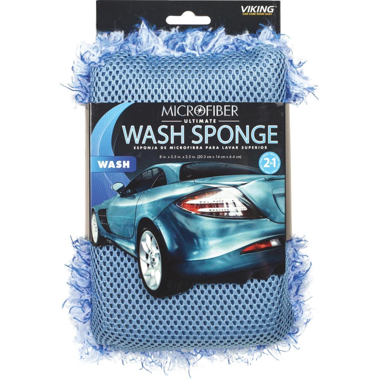 Viking 5-1/2 In. W x 8 In. L x 2-1/2 In. D 2N1 Ultimate Car Wash Sponge Image 1