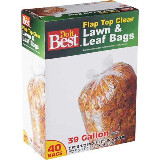 Do it Best 39 Gal. Clear Flap Tie Lawn & Leaf Bag (40-Count)