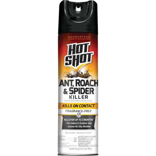 Hot Shot 17.5 Oz. Fragrance-Free Aerosol Spray Ant, Roach, & Spider Killer