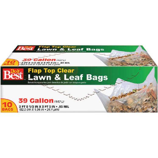 Do it Best 39 Gal. Clear Flap Tie Lawn & Leaf Bag (10-Count)