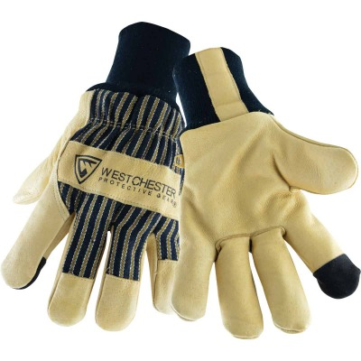 West Chester Men's Large Pigskin Leather Winter Glove with Knit Wrist