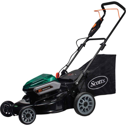 Scotts 21 In. 62 Volt Walk Behind Lithium Ion Cordless Electric Lawn Mower